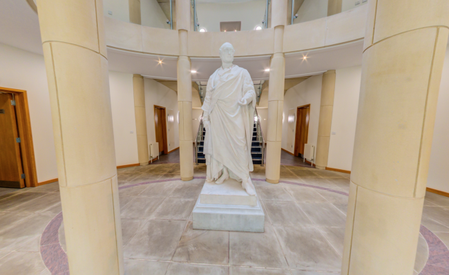 Chancellor's Centre Welcome Foyer and Price Albert Statue