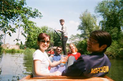 Students punting