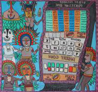 a parody image of pacific island slot machines
